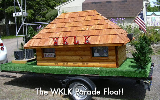 WKLK Parade Float